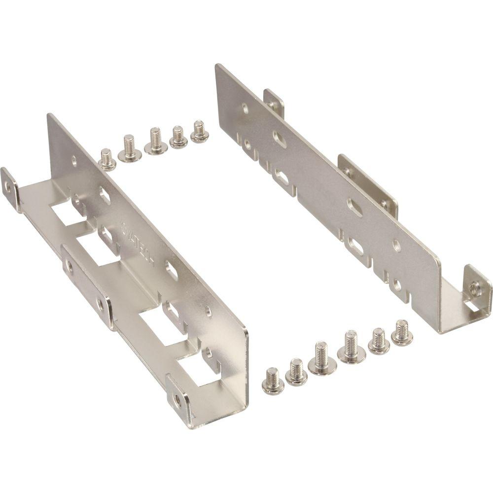 InLine® HDD/SSD Einbauschienen, 2x 6,35cm (2,5'') zu 8,89cm (3,5''), nur Rahmen und Schrauben