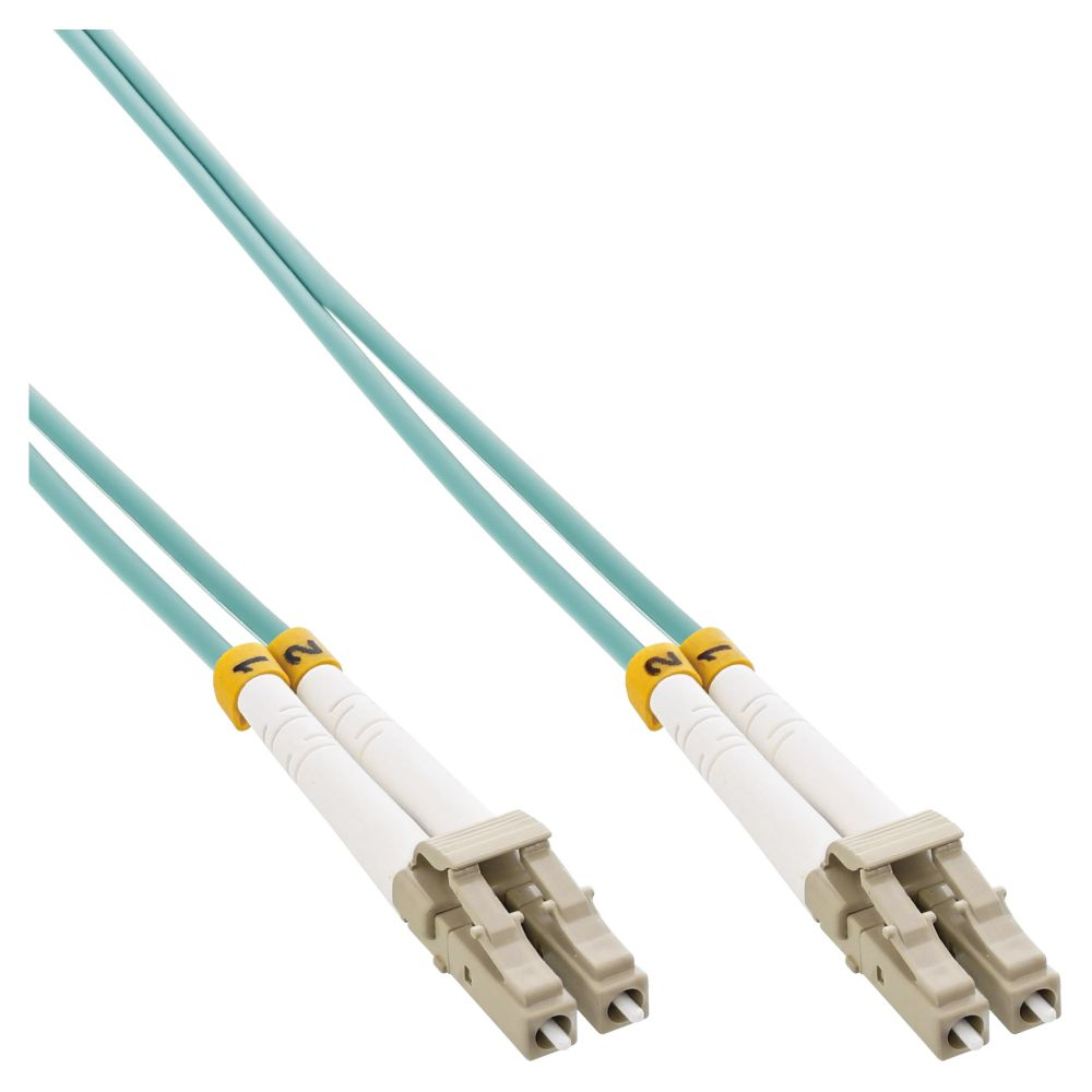InLine® LWL Duplex Kabel, LC/LC, 50/125µm, OM3, 3m