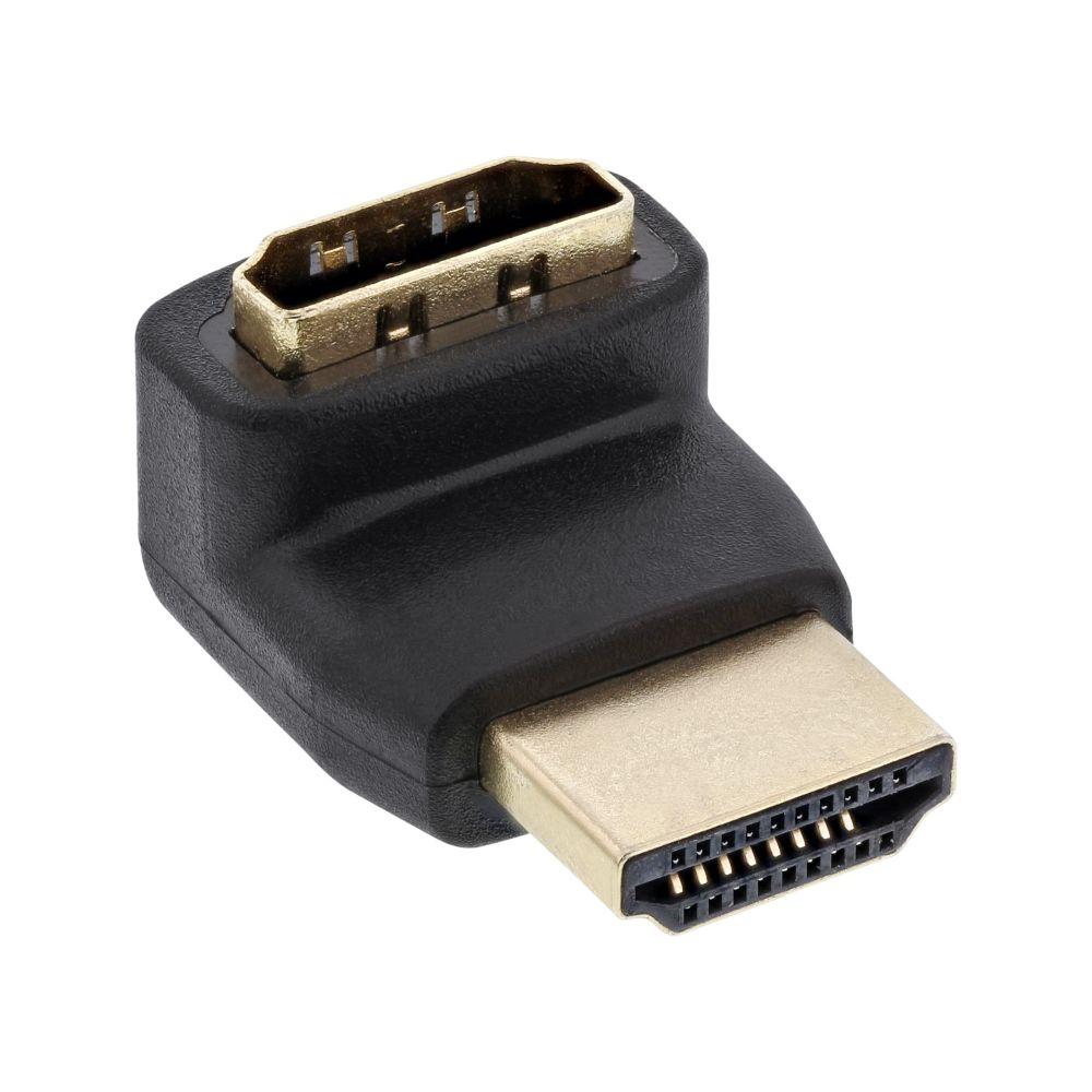 InLine® HDMI Adapter, Stecker / Buchse, gewinkelt oben, vergoldete Kontakte, 4K2K