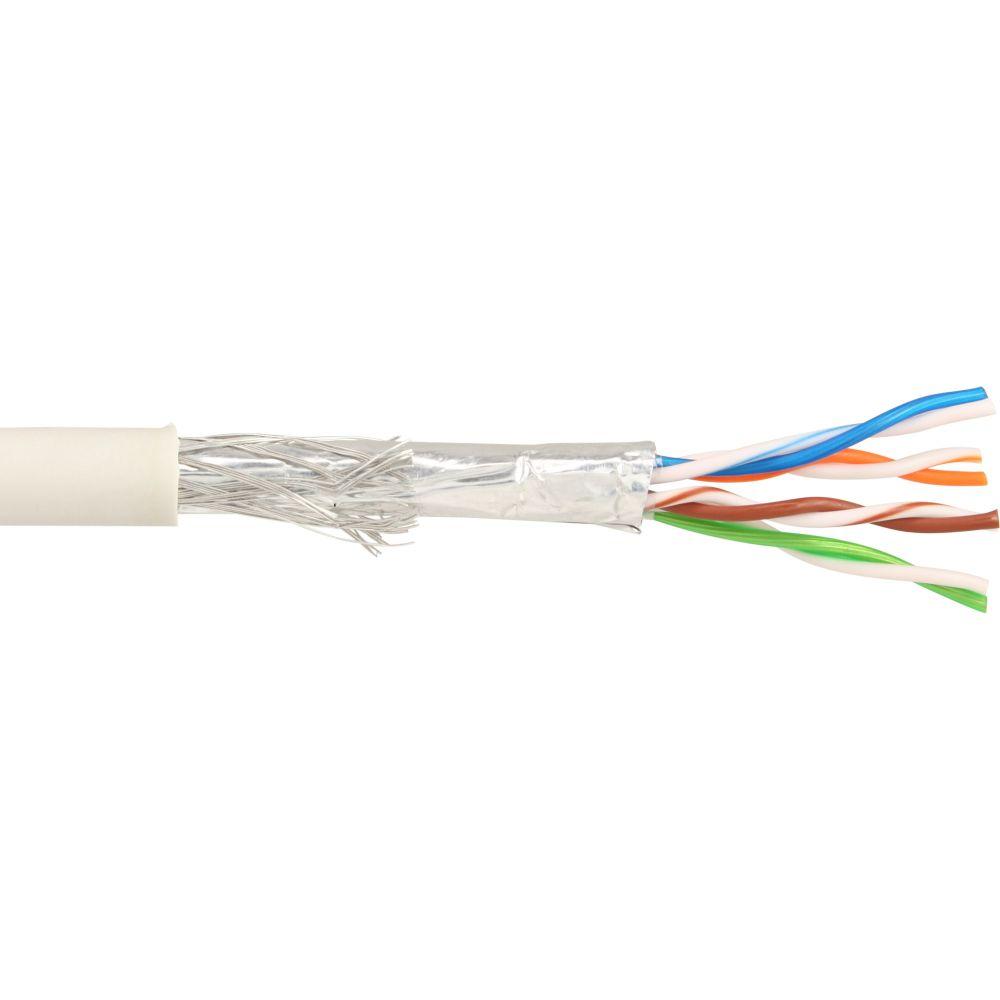 InLine® Patchkabel Cat.5e, grau, SF/UTP, AWG26 CCA, PVC, 500m