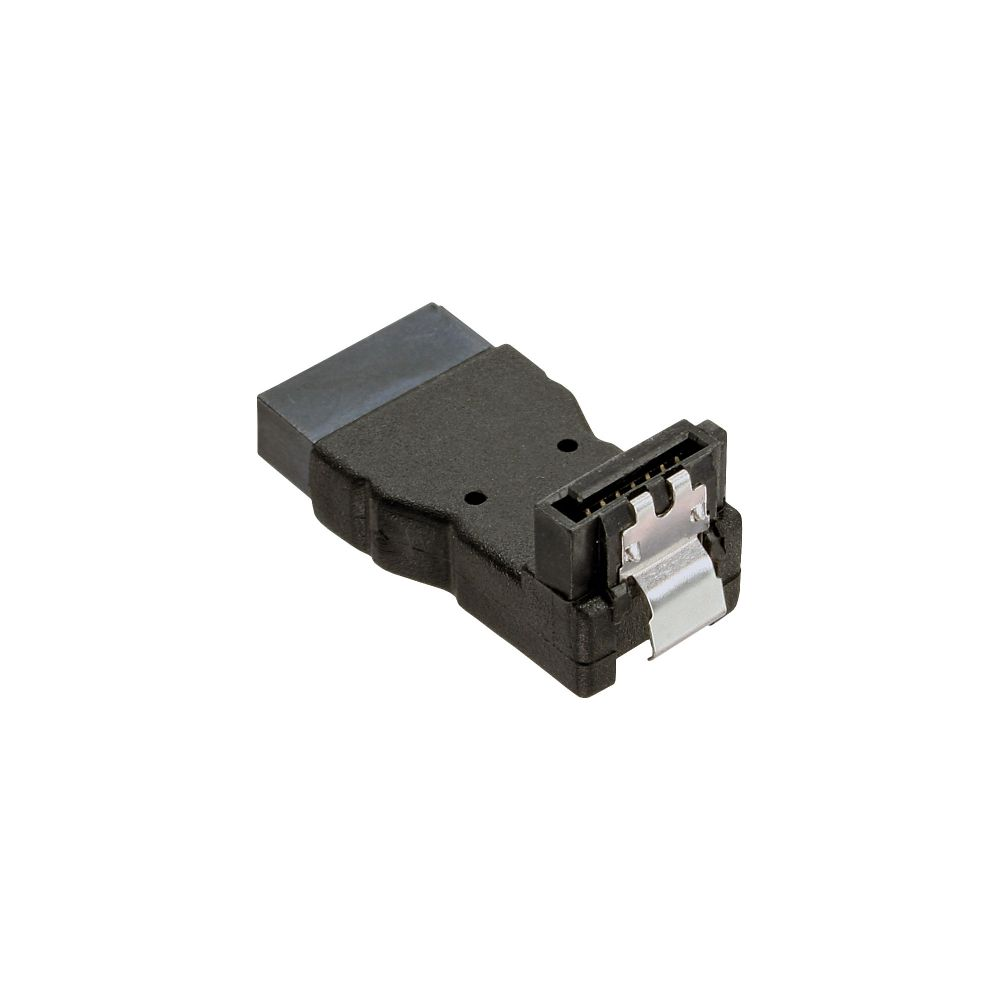 InLine® SATA Adapter Stecker / Buchse, gewinkelt nach unten