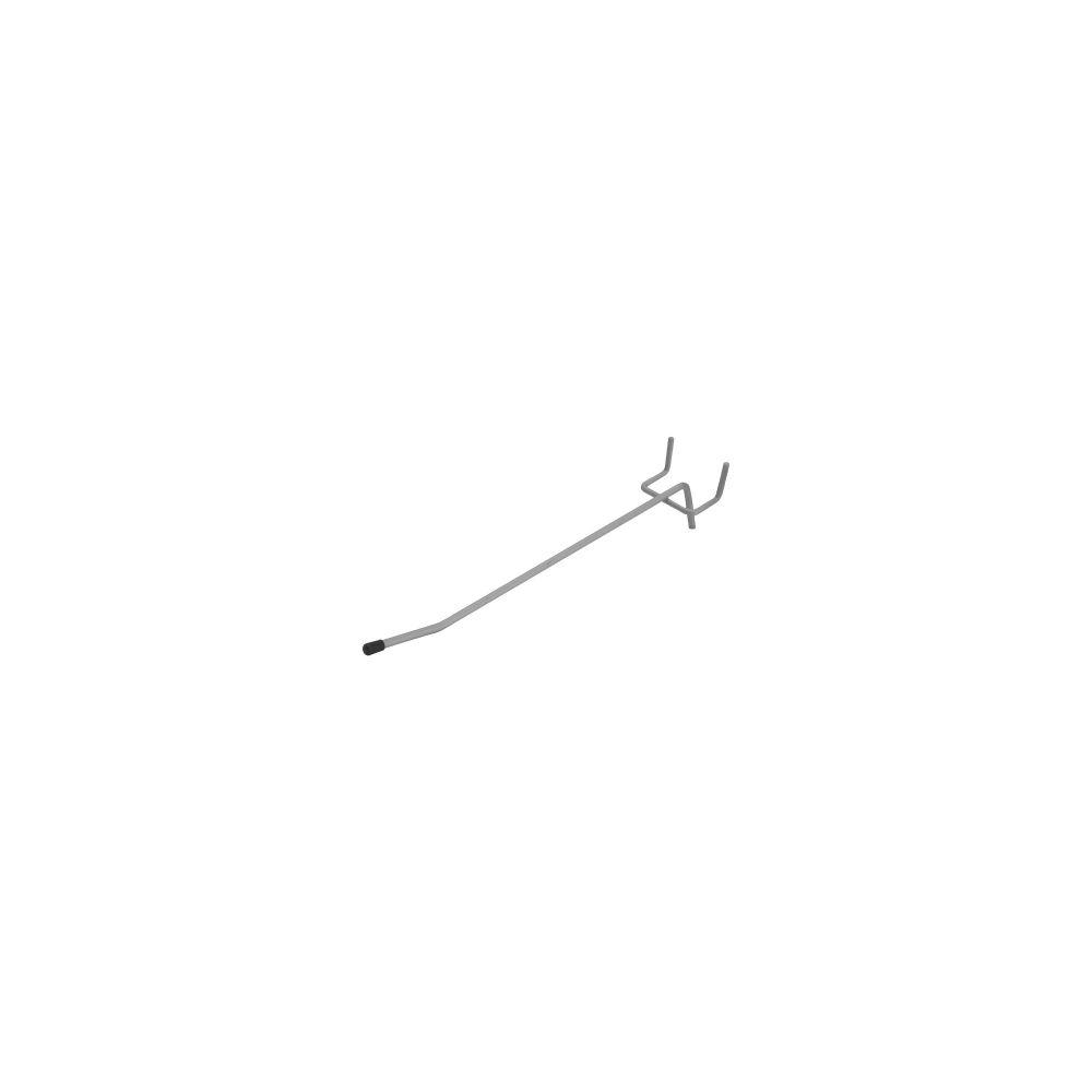 InLine® Einzelhaken rund, für Aufstellwand, 20cm lang, silber-hell