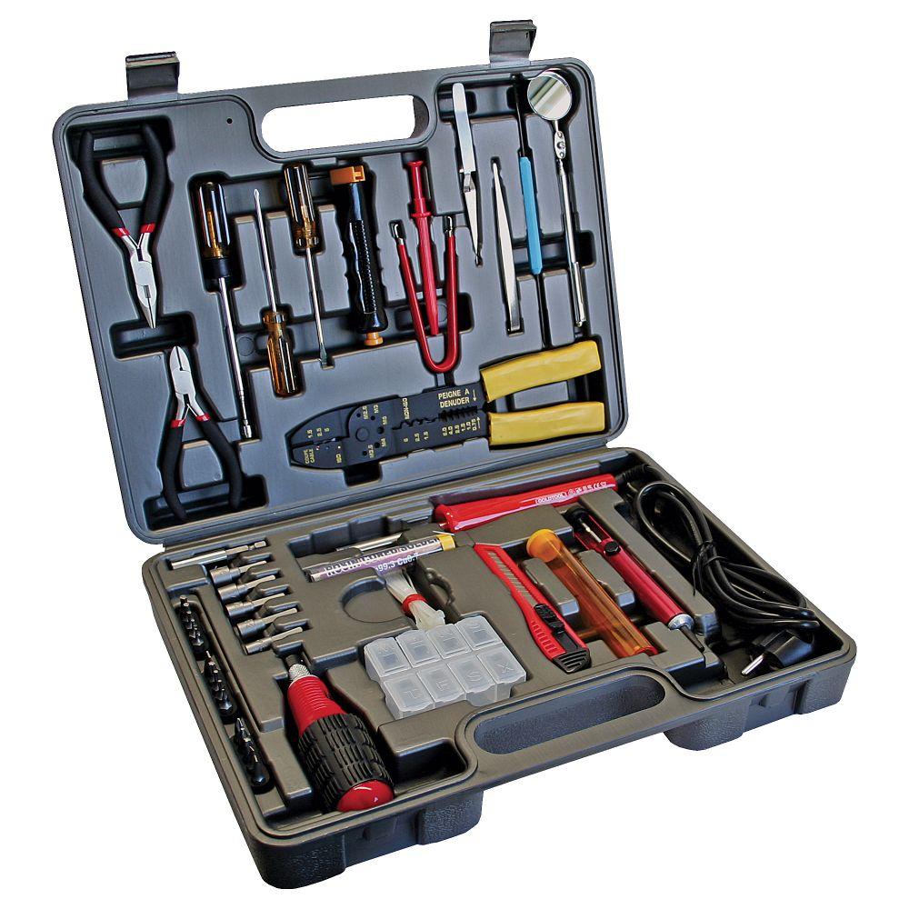 Werkzeugset für Computer und Elektronik, 61-teilig