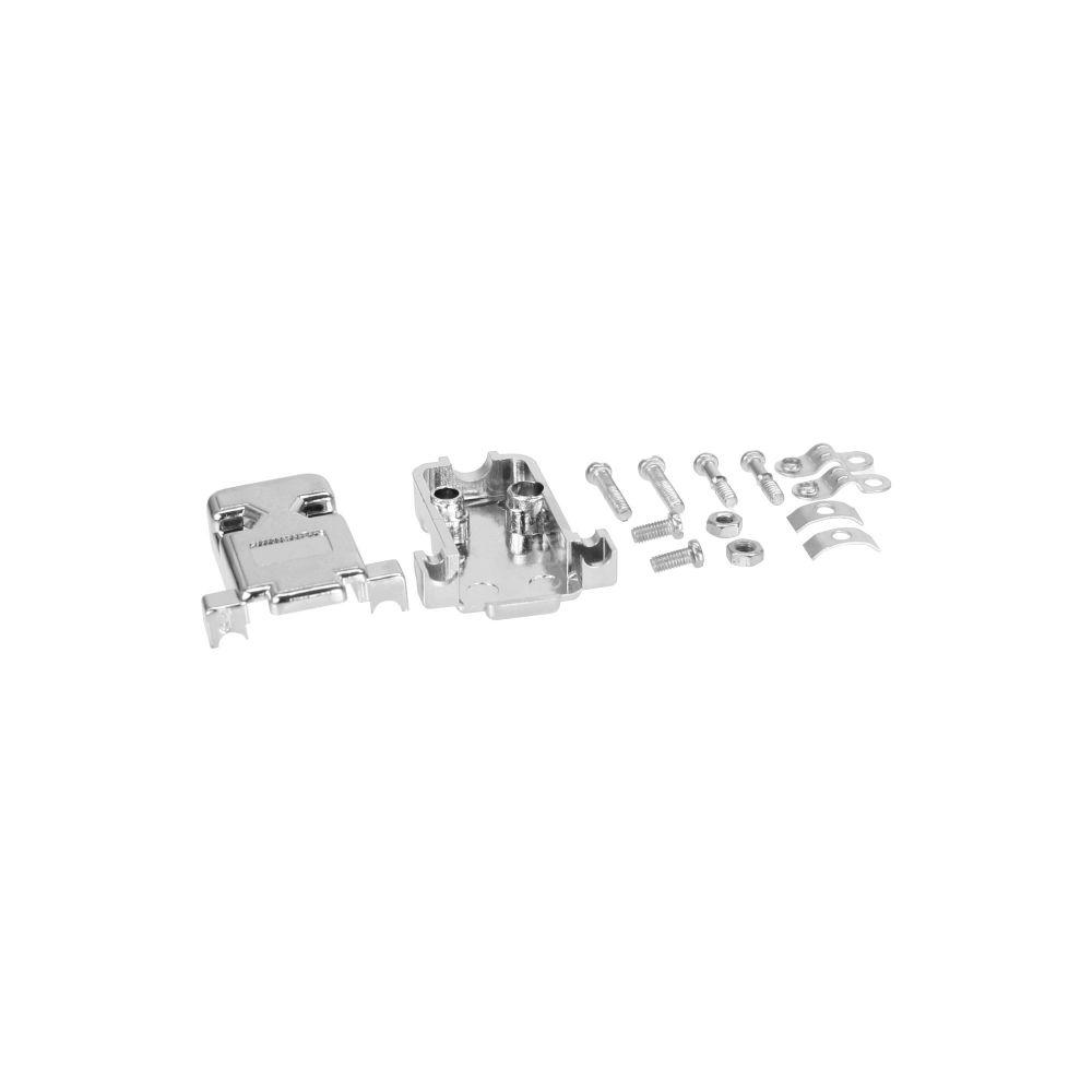 InLine® Sub D Haube, metallisiert 9pol + 15pol (VGA)