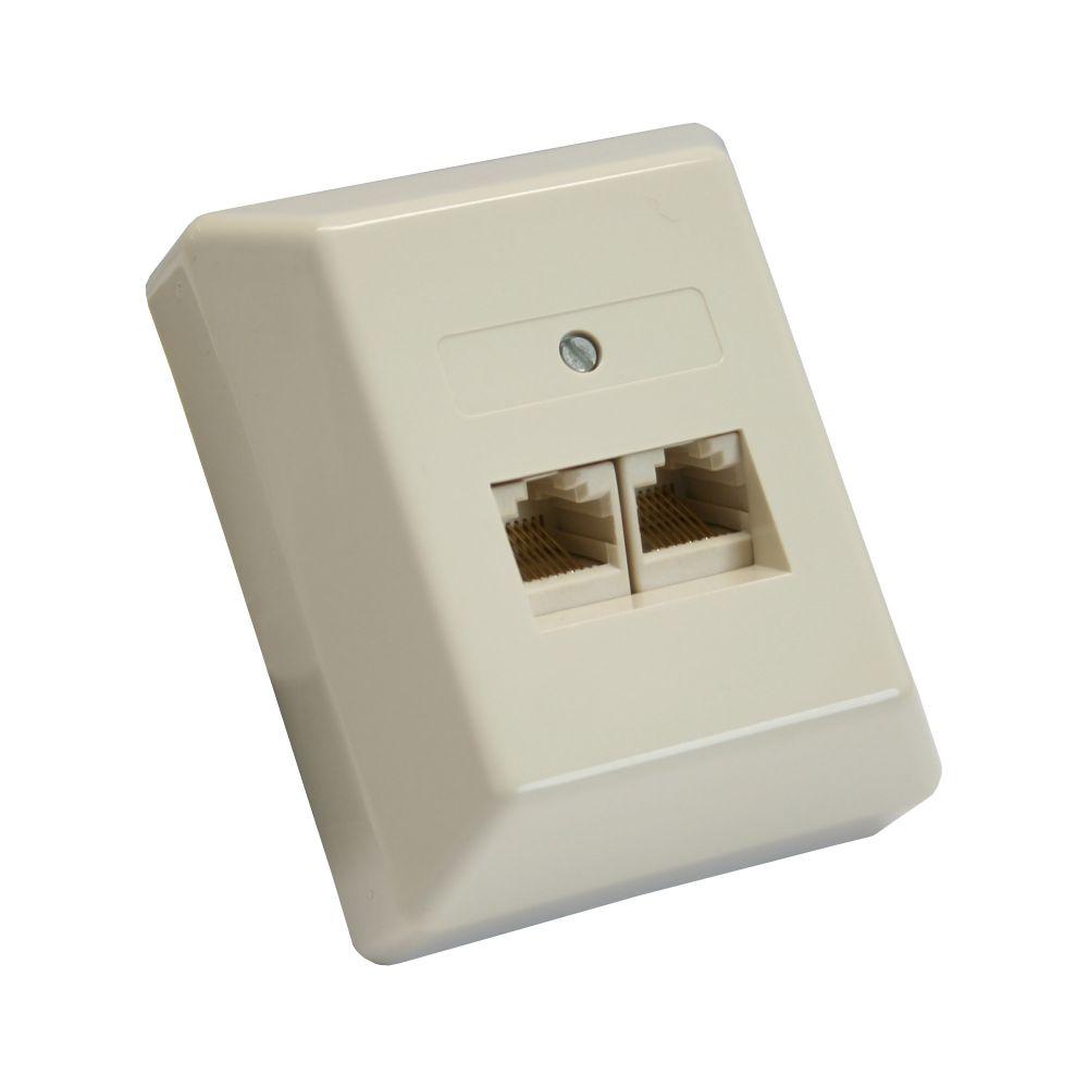 InLine® ISDN Anschlussdose, 2x RJ45 Buchse, Aufputz, Schraubanschluss 2x 8-fach