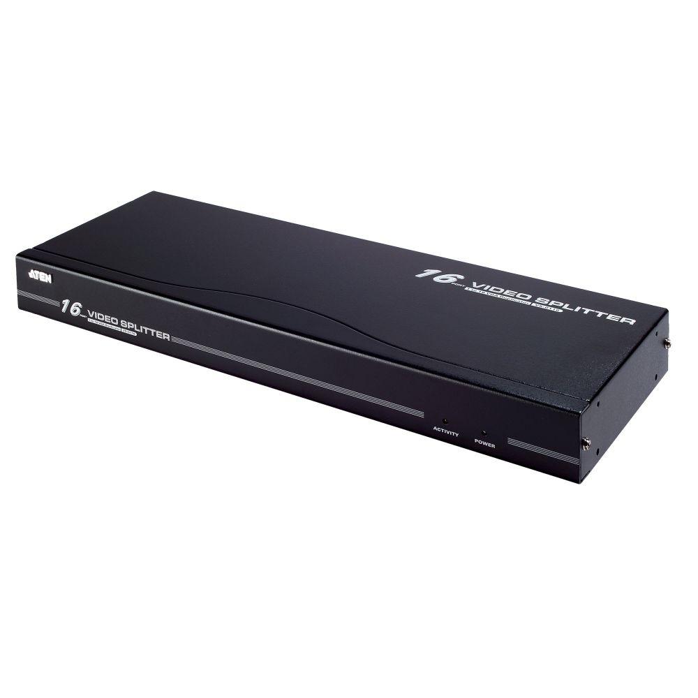 ATEN VS0116 Video-Splitter S-VGA 16-fach Monitor-Verteiler, 250Mhz, 1HE, Rackmontage