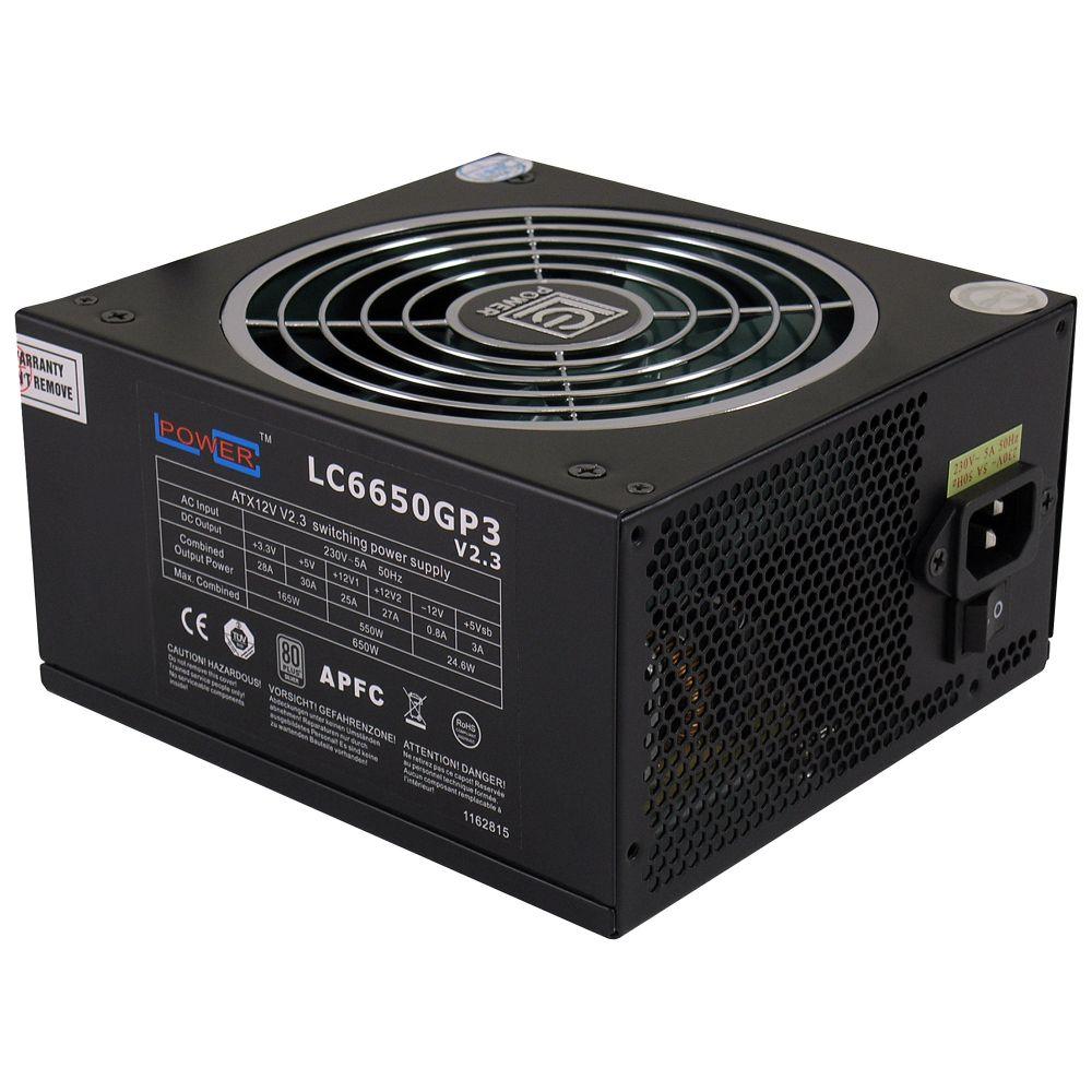 LC-Power LC6650GP3 V2.3, ATX-Netzteil GP3-Serie, 650W, 80+ SILVER