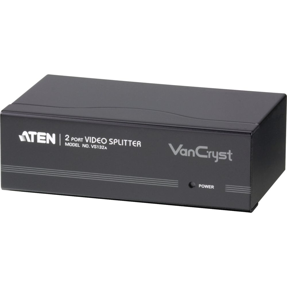 ATEN VS132A Video-Splitter S-VGA 2-fach Monitor-Verteiler, 450MHz