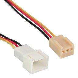 InLine® Lüfterkabel Verlängerung, 3pol Molex Stecker / Buchse, Länge 0,3m