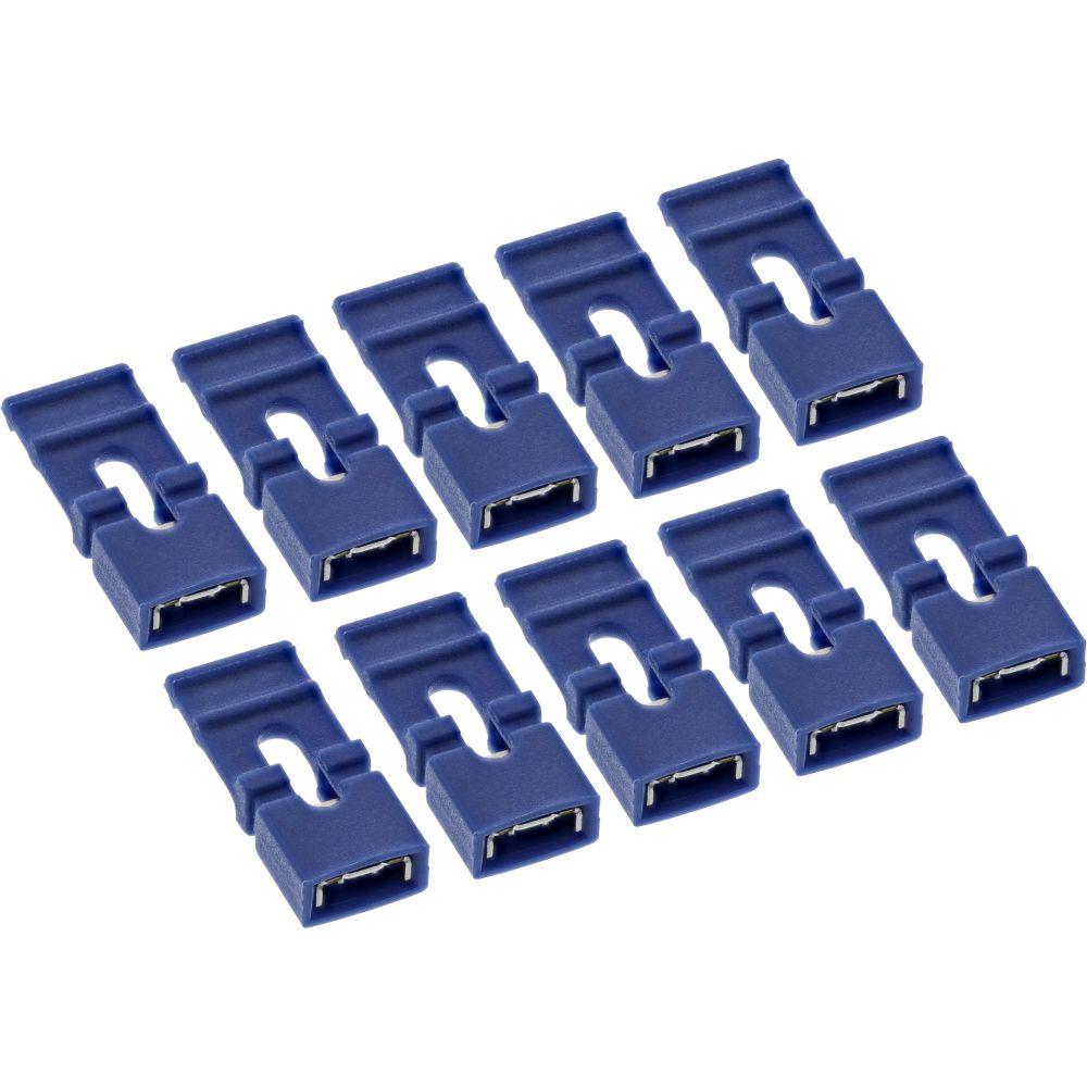 10er Pack InLine® Jumper (Kurzschlußbrücken) mit Lasche, 2mm