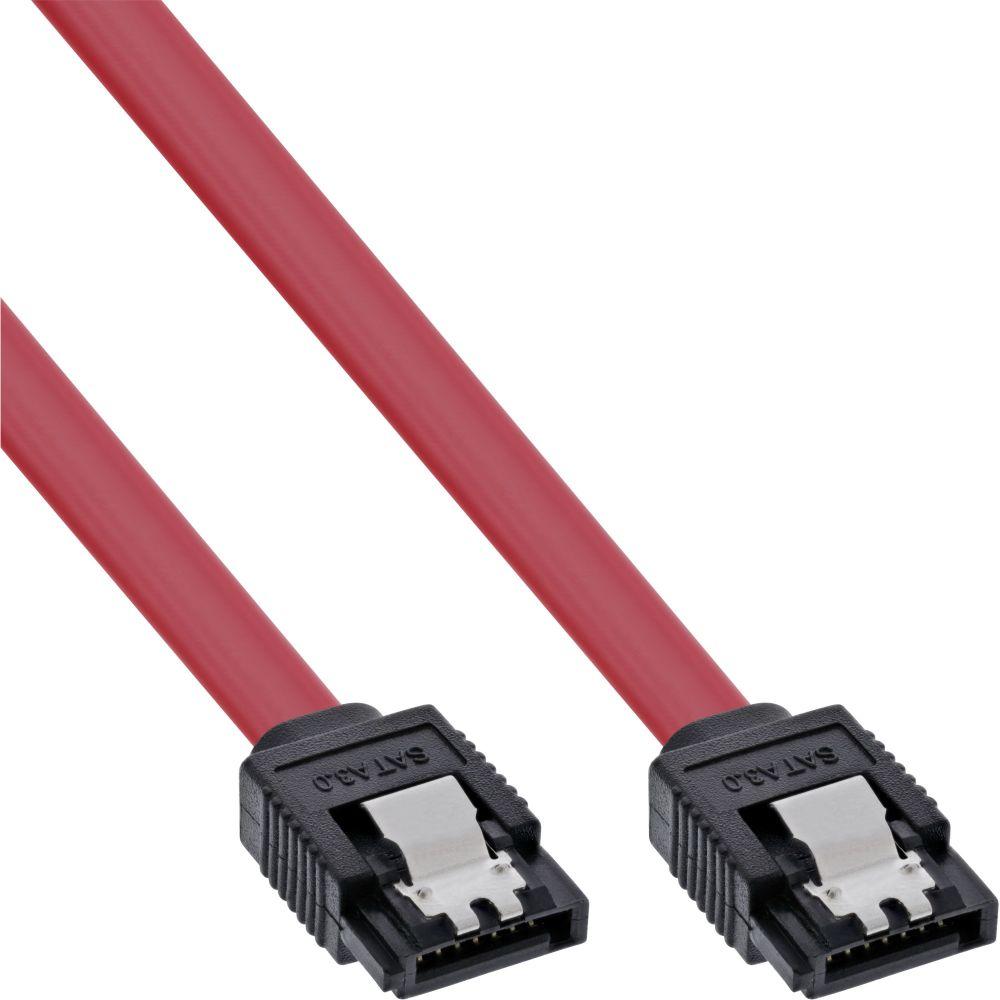 InLine® SATA 6Gb/s Kabel, mit Lasche, 0,5m