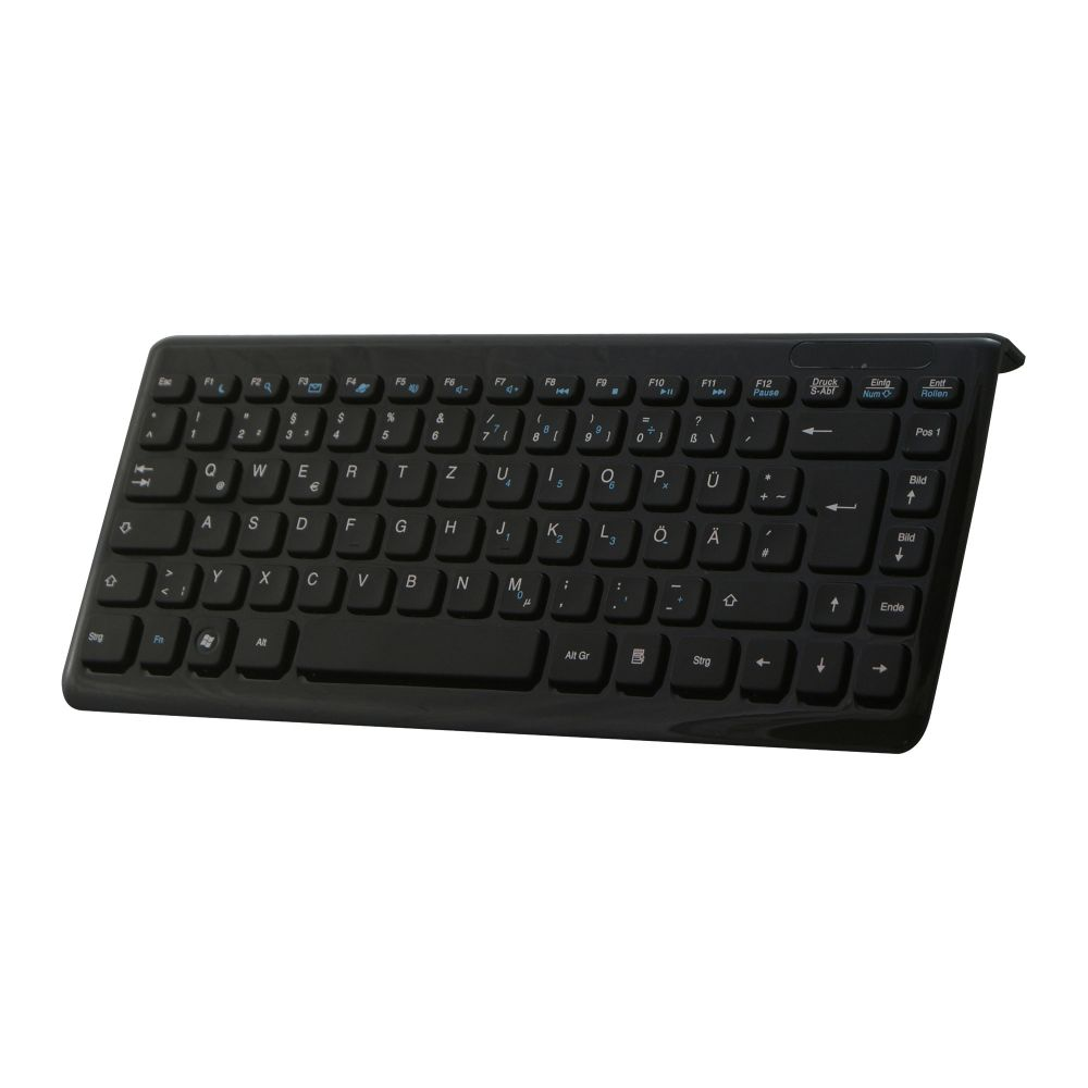 Perixx PERIBOARD-407 DE B, Mini USB-Tastatur, schwarz