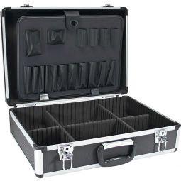 InLine® Werkzeugkoffer, Aluminium schwarz, unbestückt, abschließbar