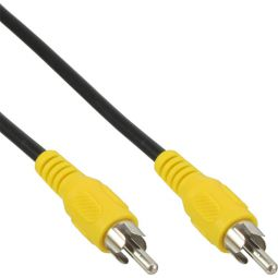 InLine® Cinch Kabel, Video, 1x CinchStecker / Stecker, Steckerfarbe gelb, 1m
