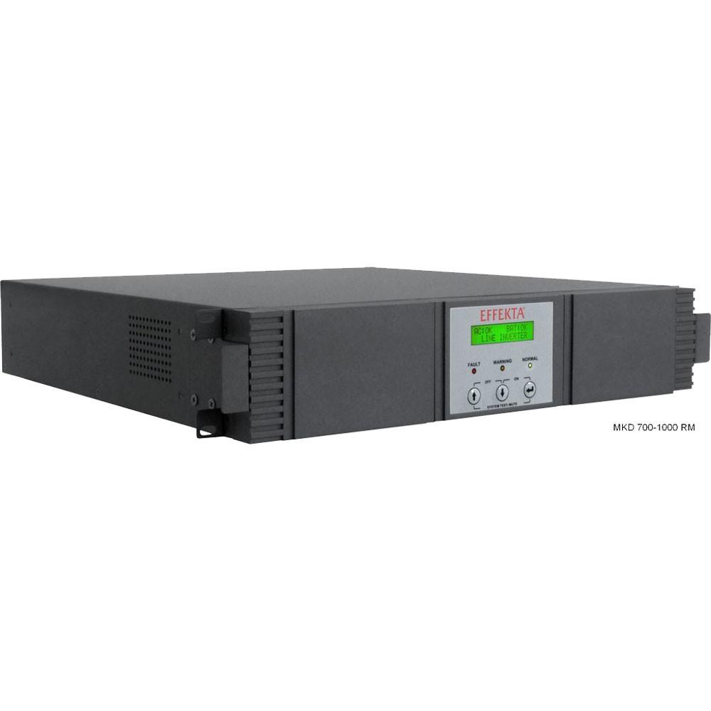 EFFEKTA USV MKD RM 2000 VA, Online-Dauerwandler, 35 min., 19'', 4x 2HE, schwarz