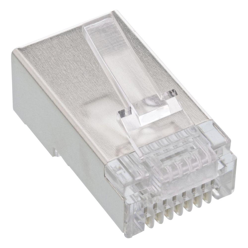 InLine® Crimpstecker RJ45, für starre Kabel (Verlegekabel) bis AWG24, 10er Pack
