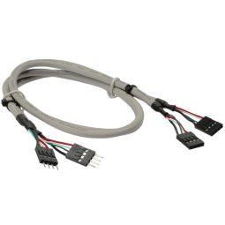 InLine® USB 2.0 Verlängerung, intern, 2x 4pol Pfostenstecker auf Pfostenbuchse, 0,6m, bulk