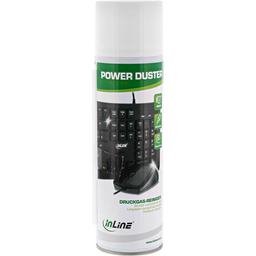 InLine® Power Duster, ''extra starker'' Druckgas-Reiniger Spraydose 400ml