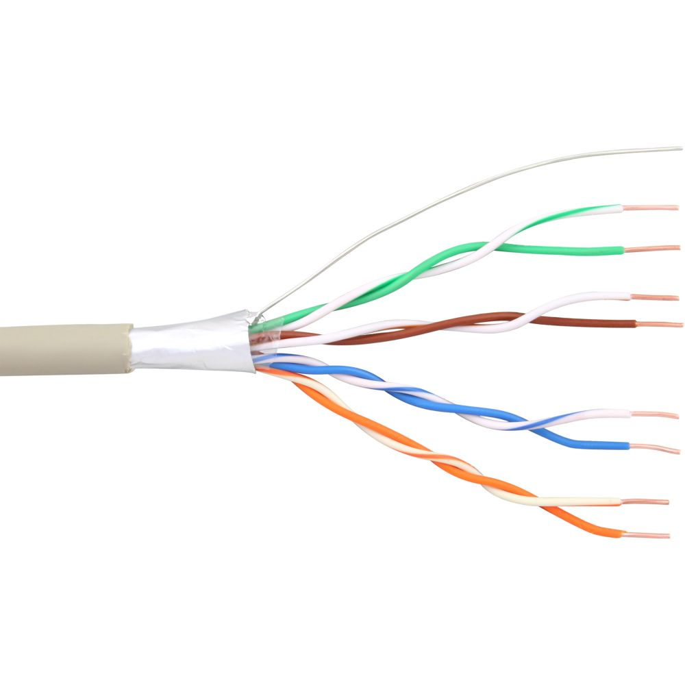 InLine® Telefon-Kabel 8-adrig, 4x2x0,6mm, zum Verlegen, 100m Rolle