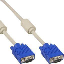 InLine® S-VGA Kabel, 15pol HD Stecker / Stecker, beige, 1m