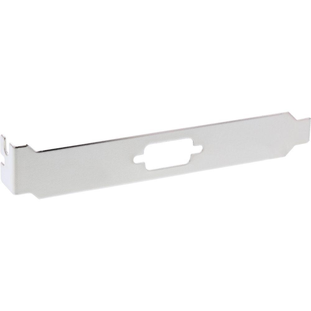 InLine® Slotblech, zur Befestigung von 9pol. Sub D Stecker oder Buchse, 4er Pack