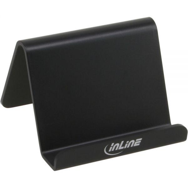 inline smartphone und handy halterung f r schreibtisch regal schwarz smartphone tablet. Black Bedroom Furniture Sets. Home Design Ideas