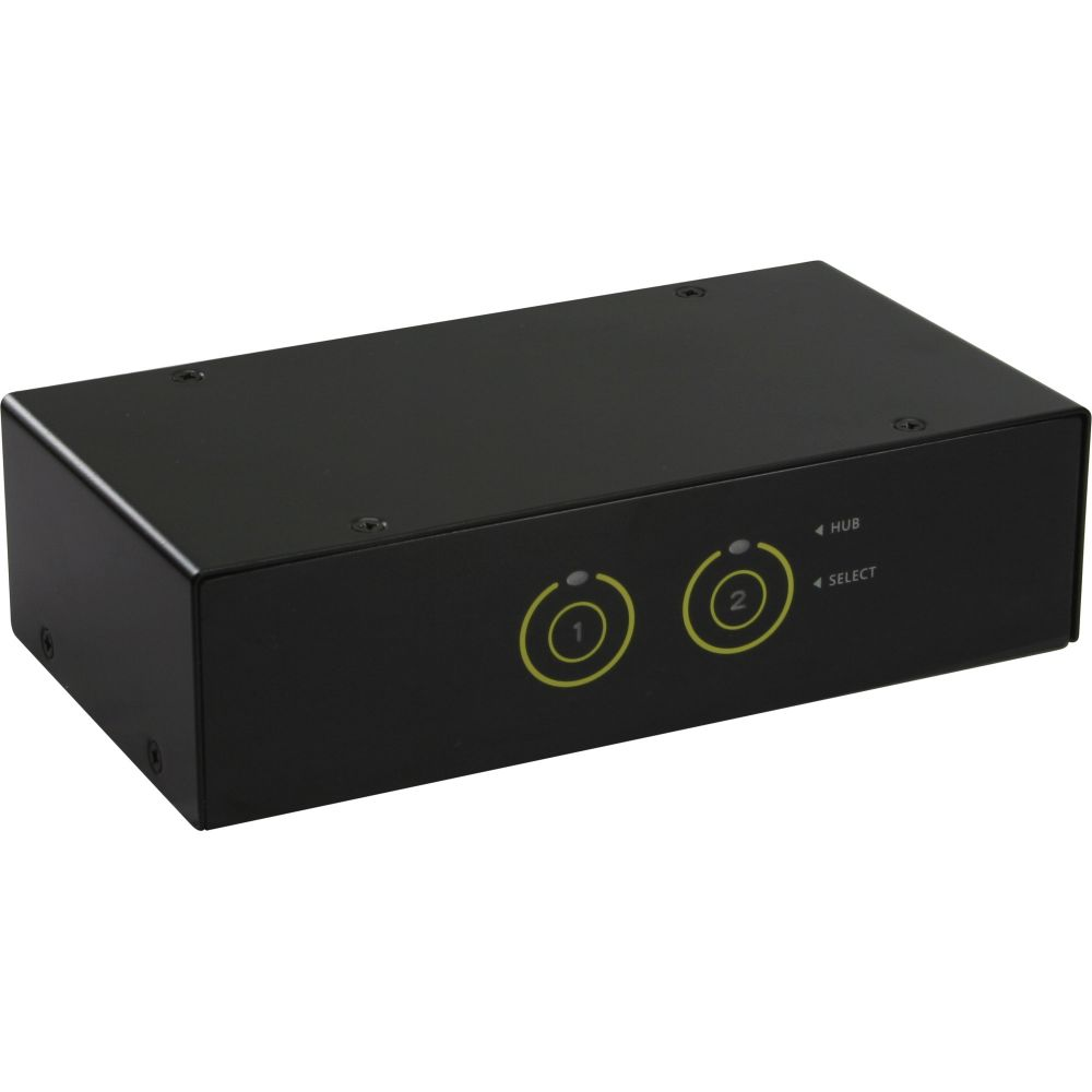 InLine® KVM Desktop Switch, 2-fach, HDMI, USB 3.0 Hub, mit Audio
