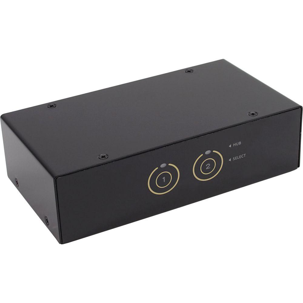 InLine® KVM Desktop Switch, 2-fach, DisplayPort, USB 3.0 Hub, mit Audio