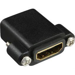 InLine® HDMI Adapter zum Einbau mit Gewinde, HDMI A Buchse/Buchse, vergoldete Kontakte
