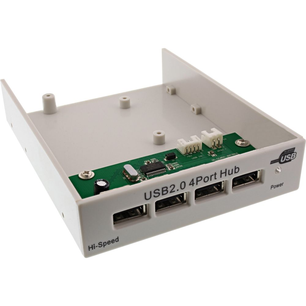 InLine® USB 2.0 Hub, 4-fach für den 8,89cm (3,5