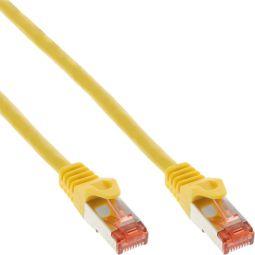InLine® Patchkabel, S/FTP (PiMf), Cat.6, 250MHz, halogenfrei, Kupfer, gelb, 1m