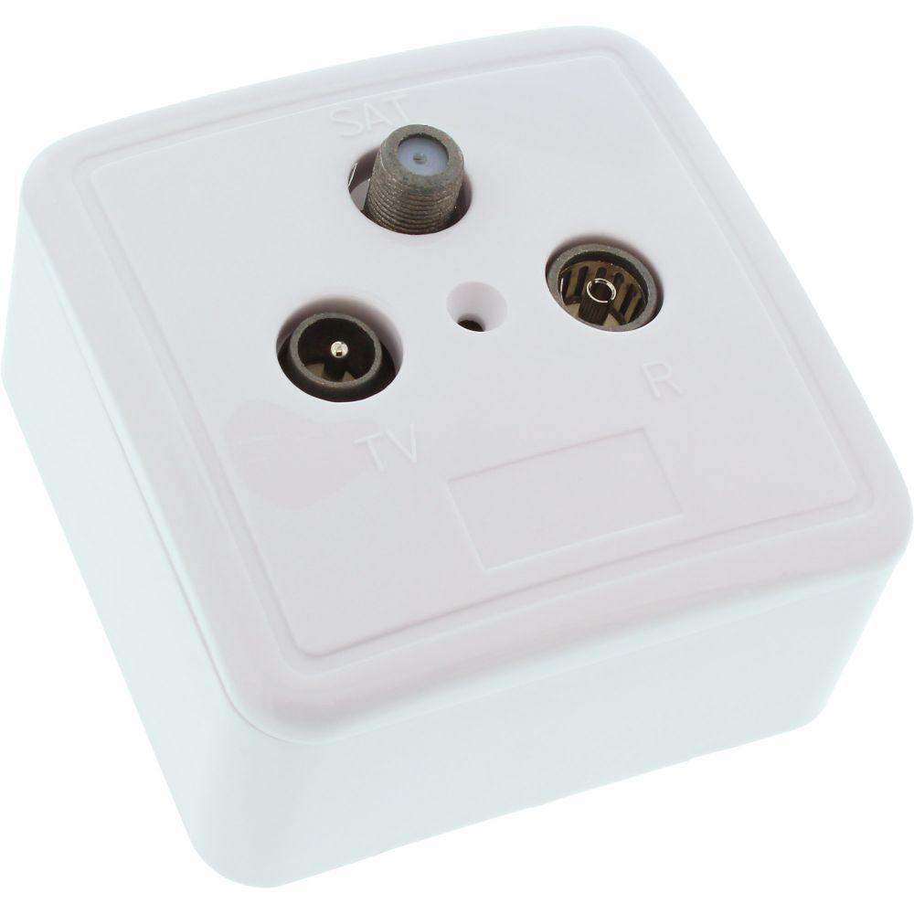 InLine® Antennensteckdose + SAT, geschirmt, AP/UP - Set
