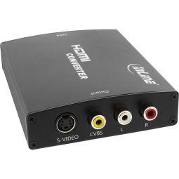 InLine® Konverter HDMI zu Composite/S-Video, mit Audio, Eingang HDMI, Ausgang: Cinch, S-Video und Audio Cinch