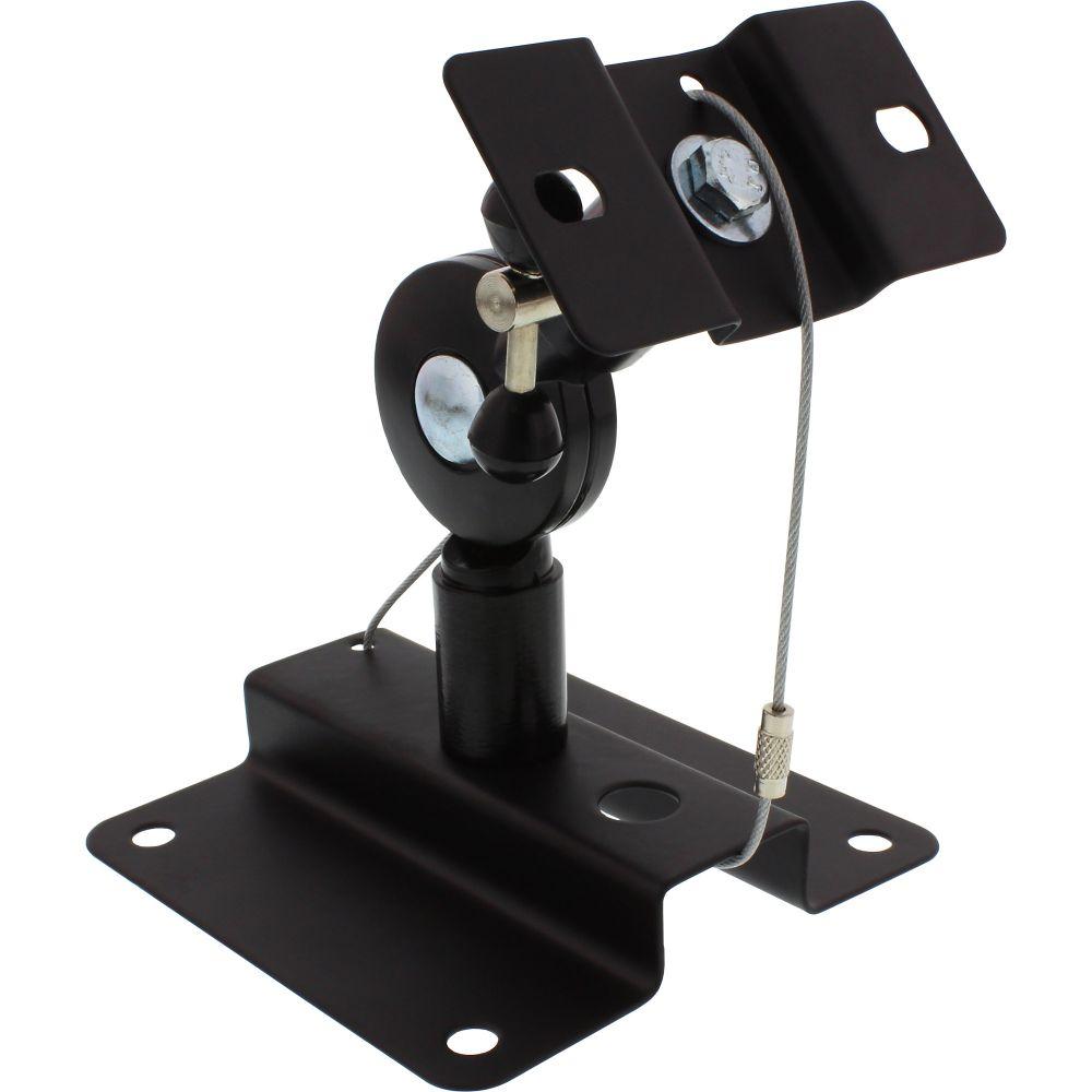 InLine® Lautsprecher Wandhalterung bis 15kg, 2er Set, schwarz