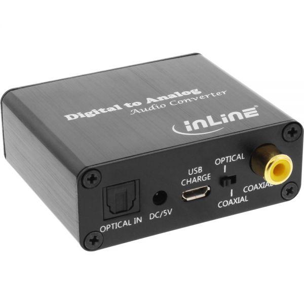 inline audio konverter digital zu analog toslink cinch eingang zu cinch stereo ausgang usb. Black Bedroom Furniture Sets. Home Design Ideas
