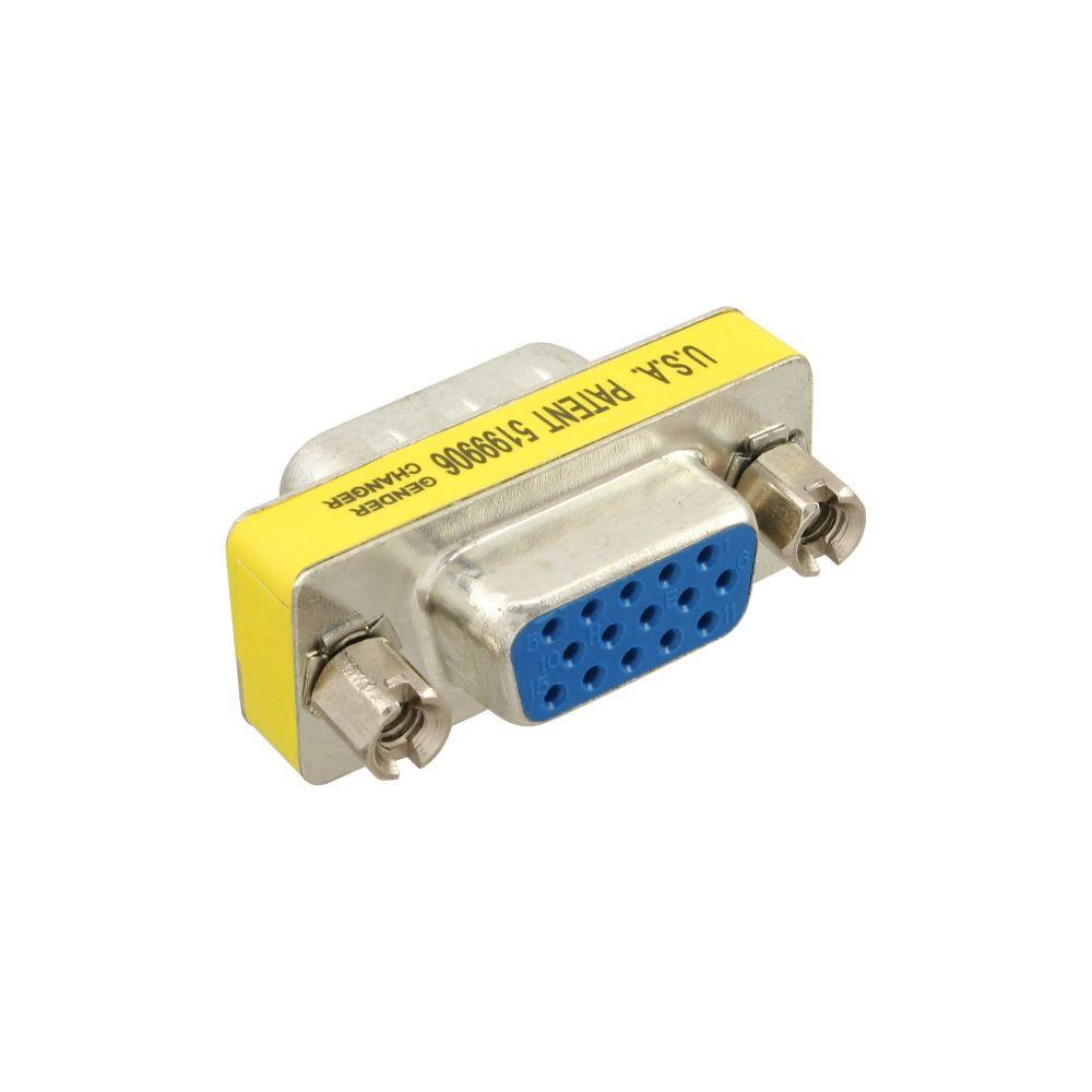 InLine® Mini-Gender-Changer, 15pol HD (VGA), Stecker / Buchse
