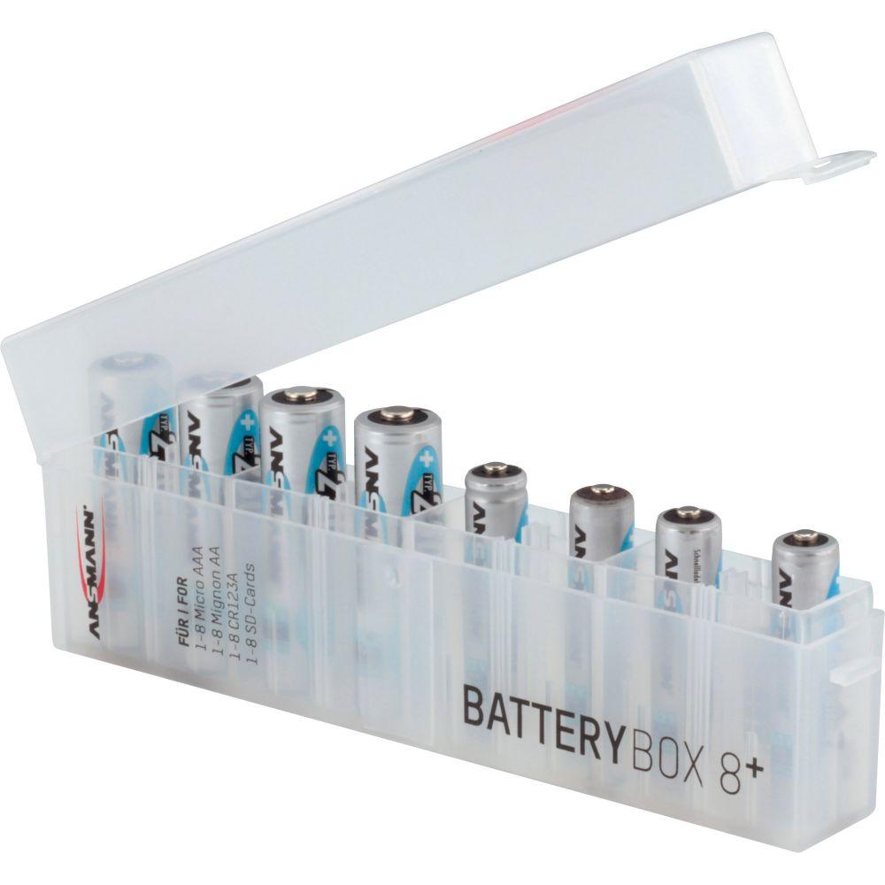 ANSMANN 4000033 Batteriebox für max 8 Zellen und/oder Speichermedien