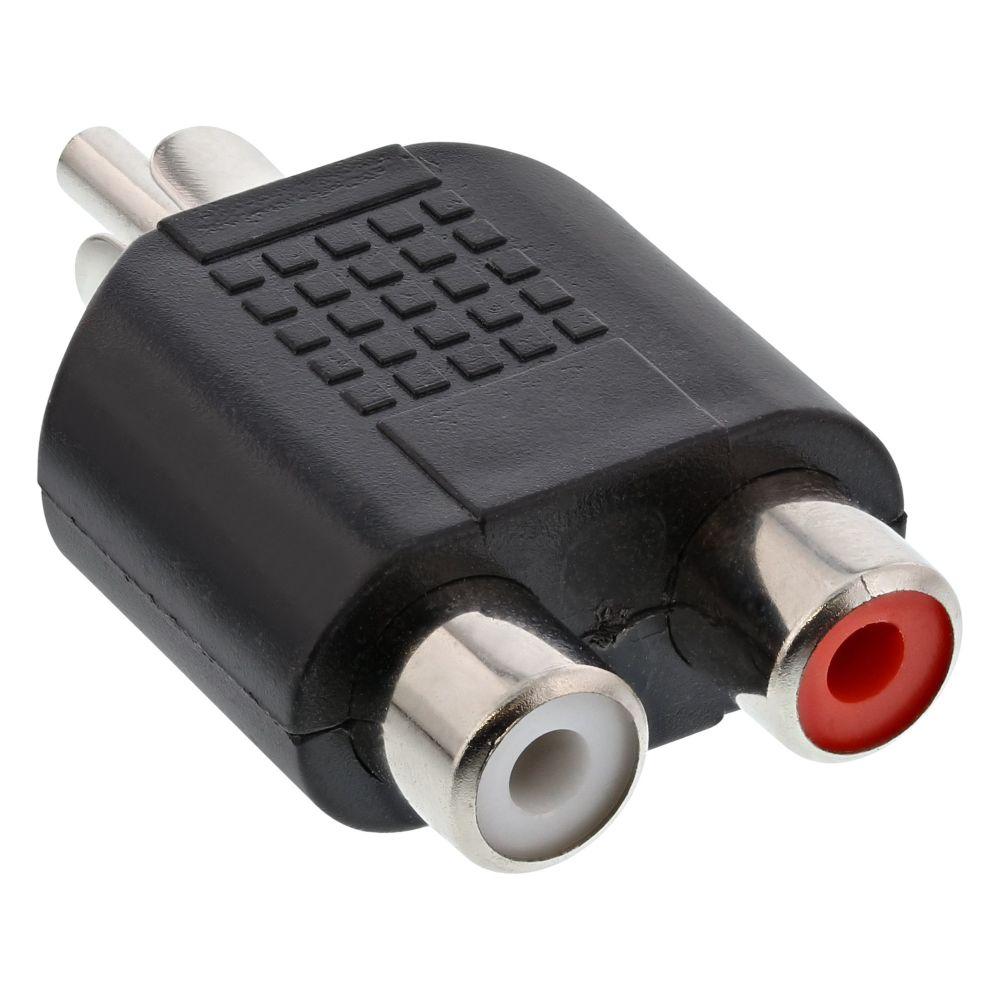 InLine® Audio Adapter, Cinch Stecker an 2x Cinch Buchse