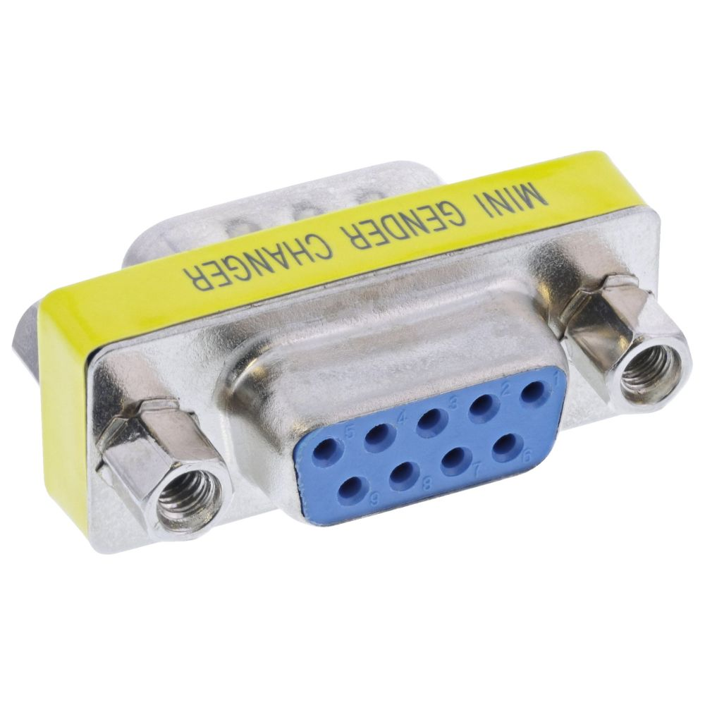 InLine® Mini-Gender-Changer, 9pol Stecker / Buchse