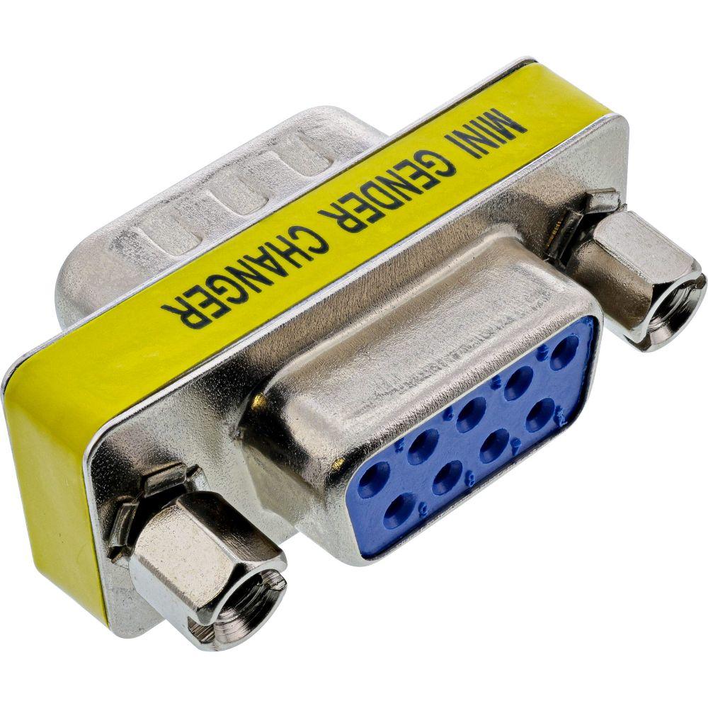 InLine® Mini-Gender-Changer, 9pol Stecker / Buchse