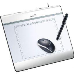 Genius MousePen i608x Grafiktablett mit kabellosem Stift und USB-Maus