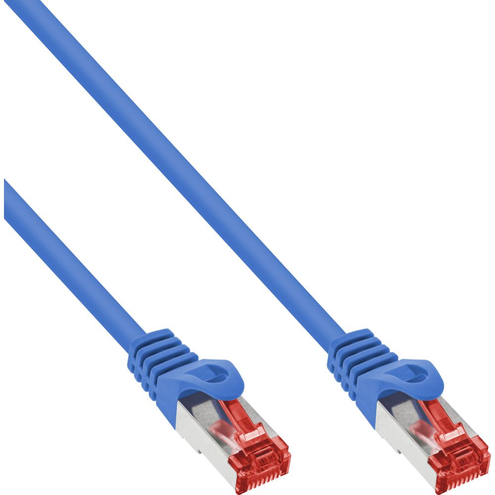 InLine® Patchkabel, S/FTP (PiMf), Cat.6, 250MHz, PVC, Kupfer, blau, 15m