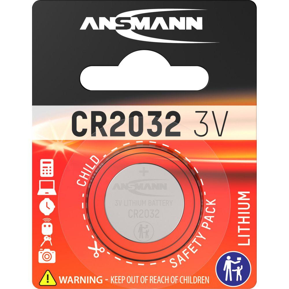 ANSMANN 5020122 Knopfzelle CR2032 3V Lithium Mainboardbatterie