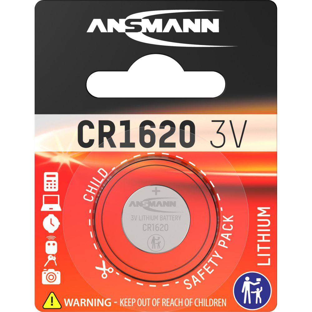 ANSMANN 5020072 Knopfzelle CR1620 3V Lithium