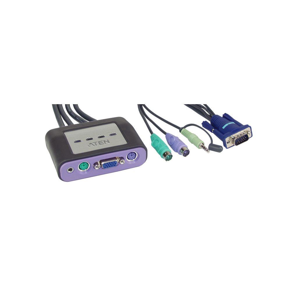ATEN CS64A KVM-Switch 4-fach, PS/2, mit Audio