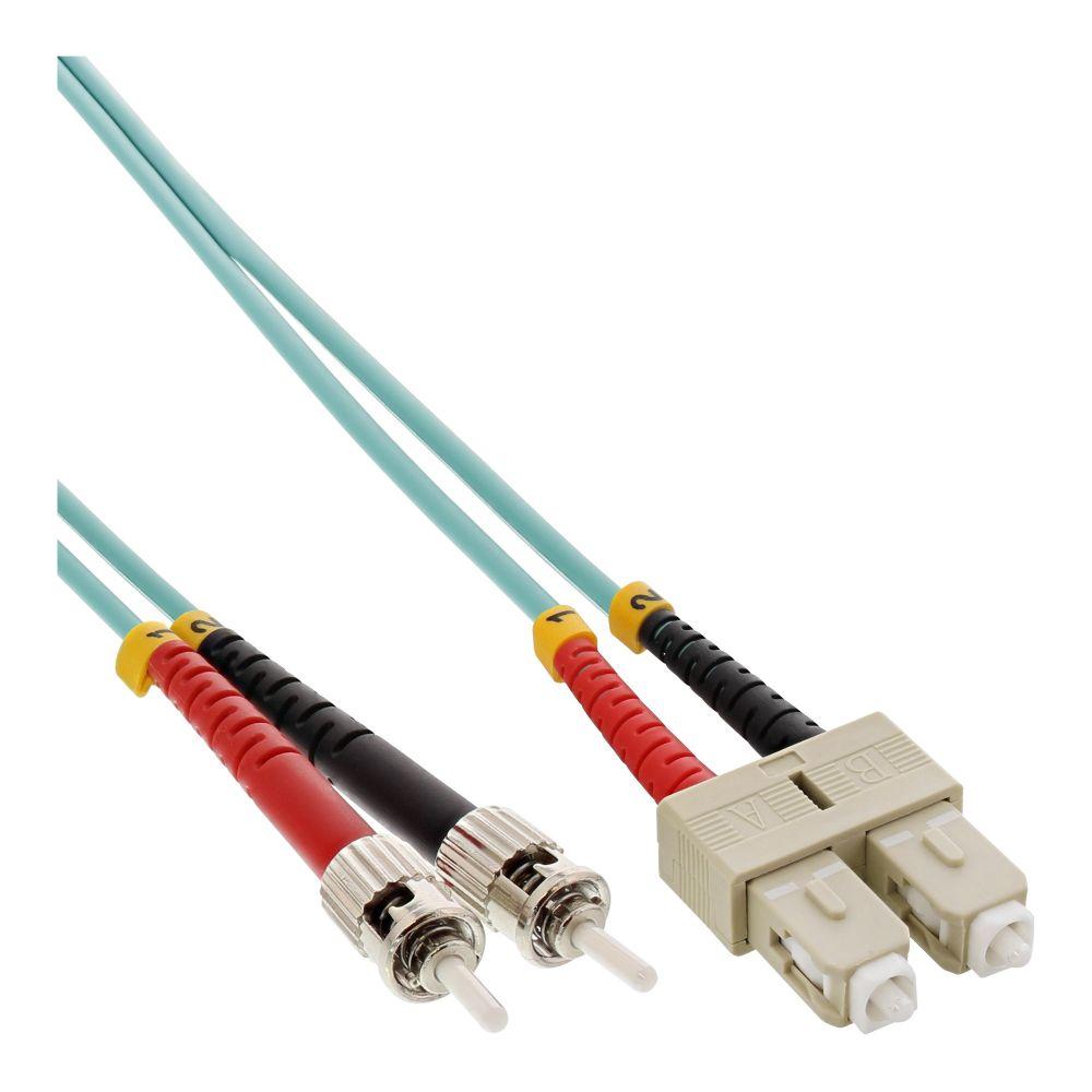 InLine® LWL Duplex Kabel, SC/ST, 50/125µm, OM3, 3m