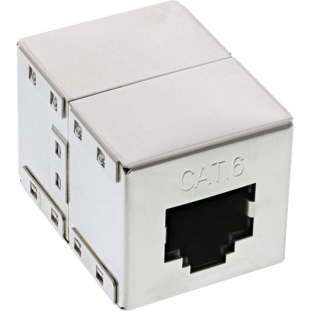 InLine® Patchkabelkupplung Cat.6, 2x RJ45 Buchse, geschirmt