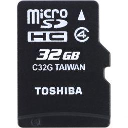 MicroSDHC 32GB HS Standard TOSHIBA THN-M102K0320M2 + SD-Adapter, Class 4