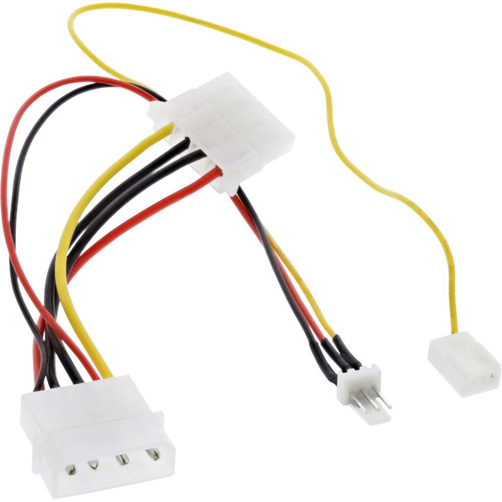 InLine® Lüfter Adapterkabel, 12V zu 7V, mit Tachosignal