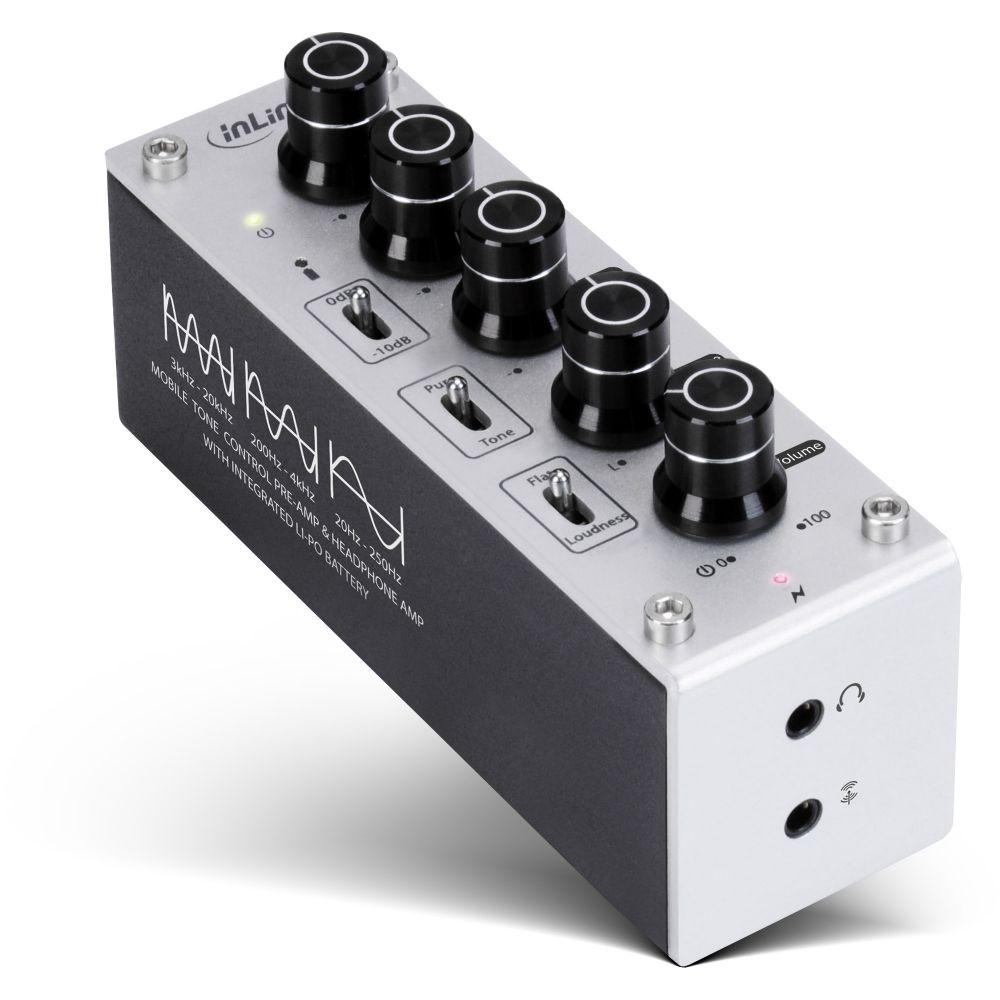 InLine® AmpEQ mobile, Hi-Res AUDIO Kopfhörer-Verstärker und Equalizer, 3,5mm Klinke, mit Akku